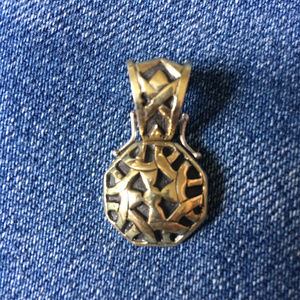 John Hardy Silver and 18K Gold Pendant